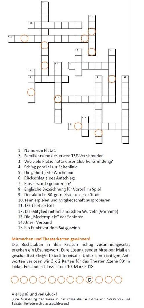 Ein Kreuzworträtsel