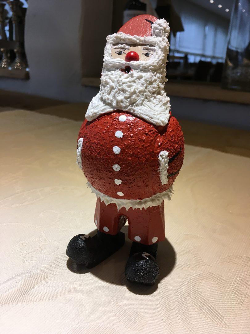 Eine Weihnachtsmann Figur