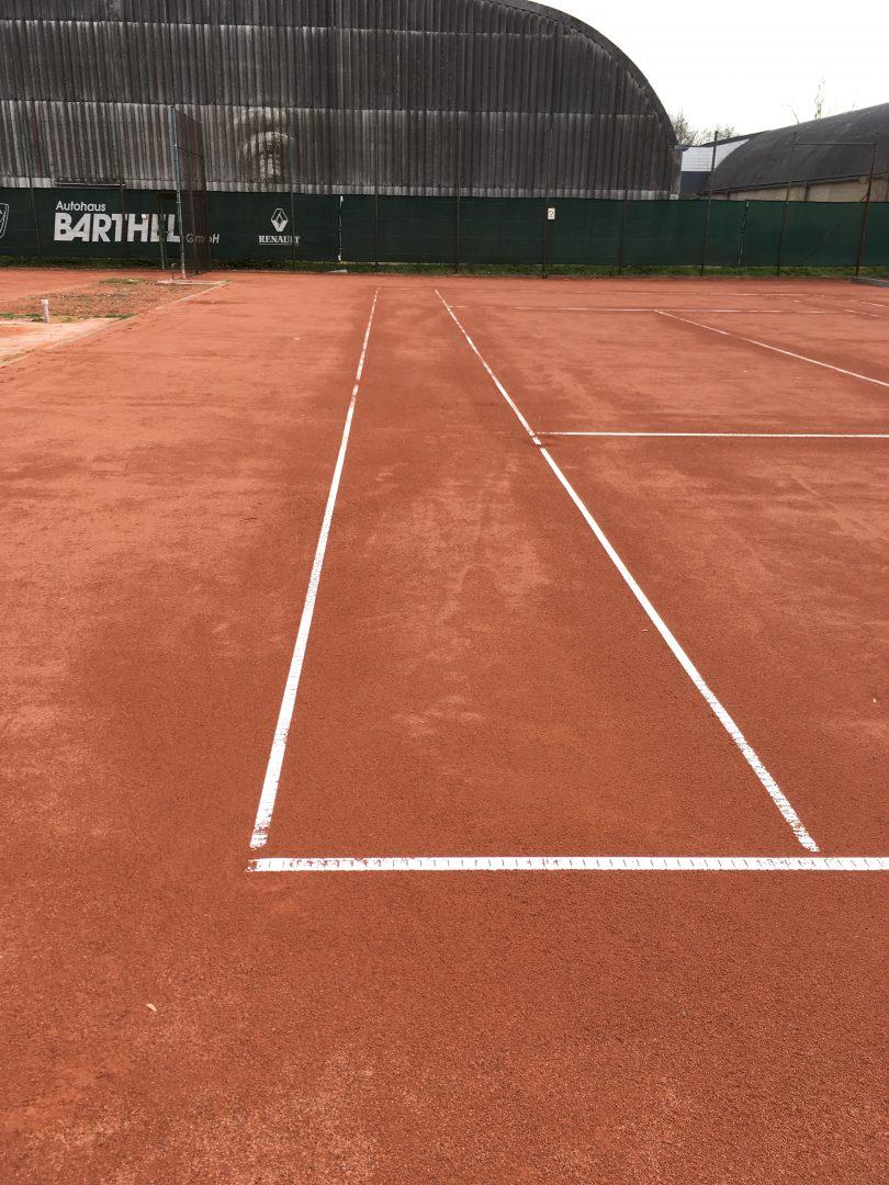 Ein Tennisplatz
